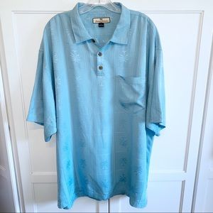 Tommy Bahama | Pullover 1/4 Placket Silk CampShirt